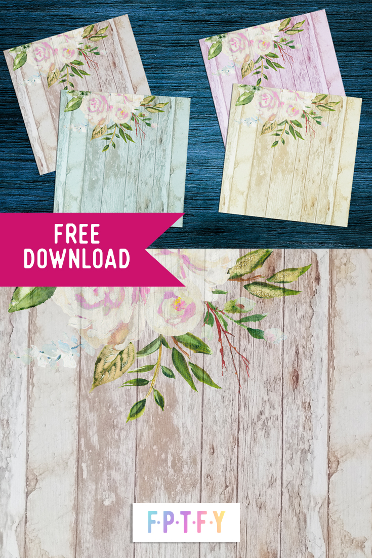 Free Farmhouse White Rose Pastel Wood Background Paper