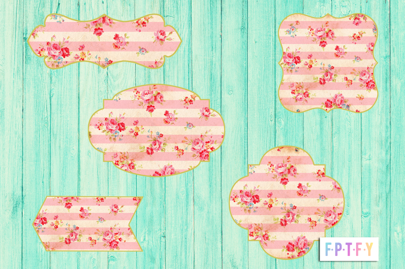 Free Shabby Floral Printable Tags