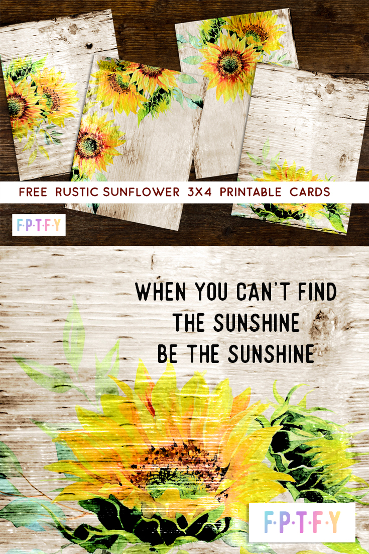 rustic sunflower printables