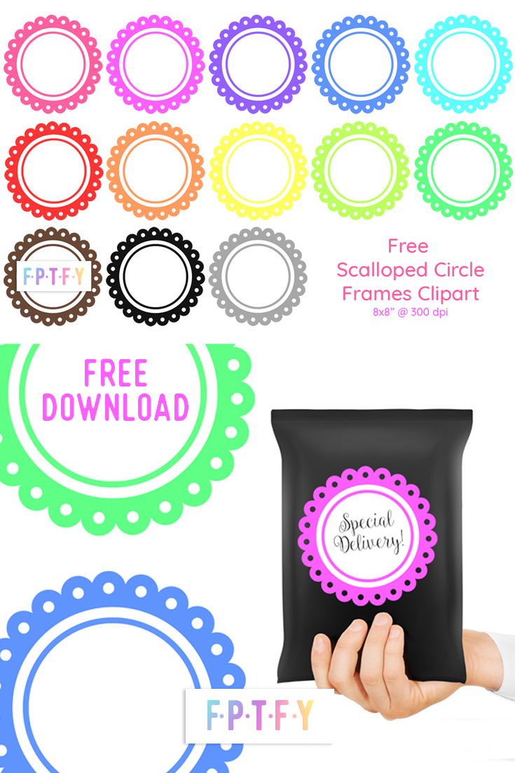 Free Scalloped Circle Frames Clipart