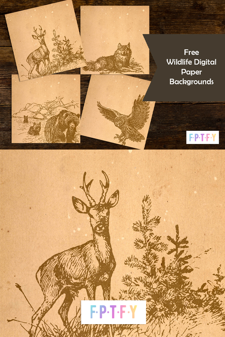 Free Wildlife Digital Papers