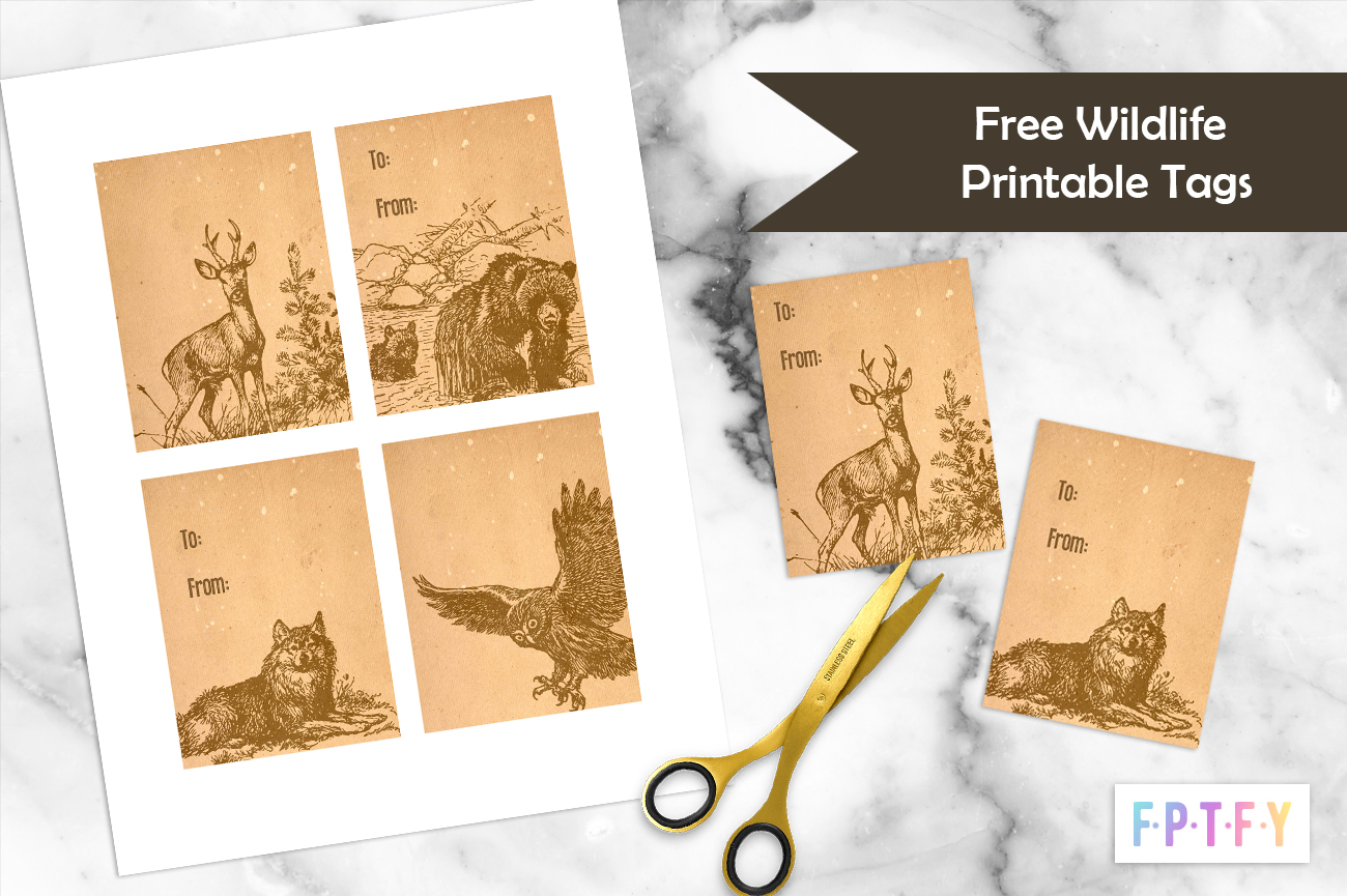 Free Wildlife Tags -Printables