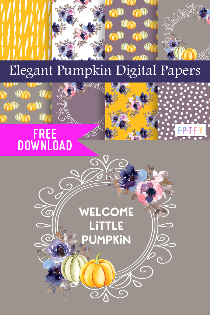 Free Elegant Pumpkin DigiPapers