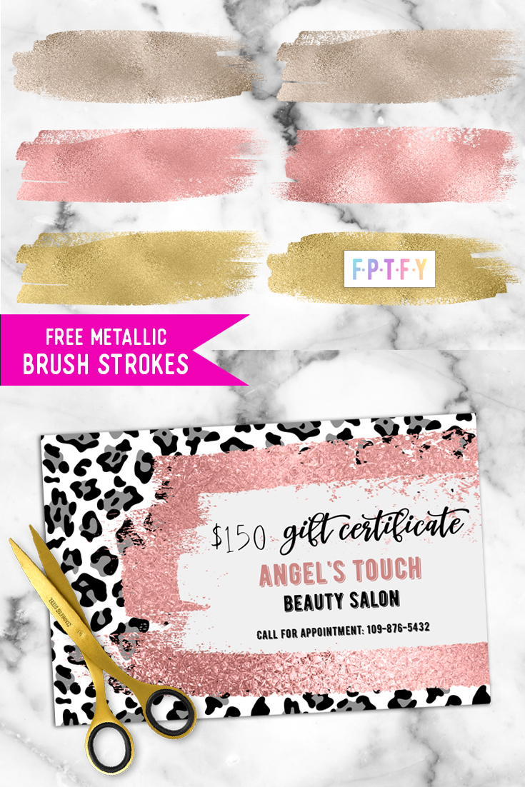 Free metallic Brush Strokes Download