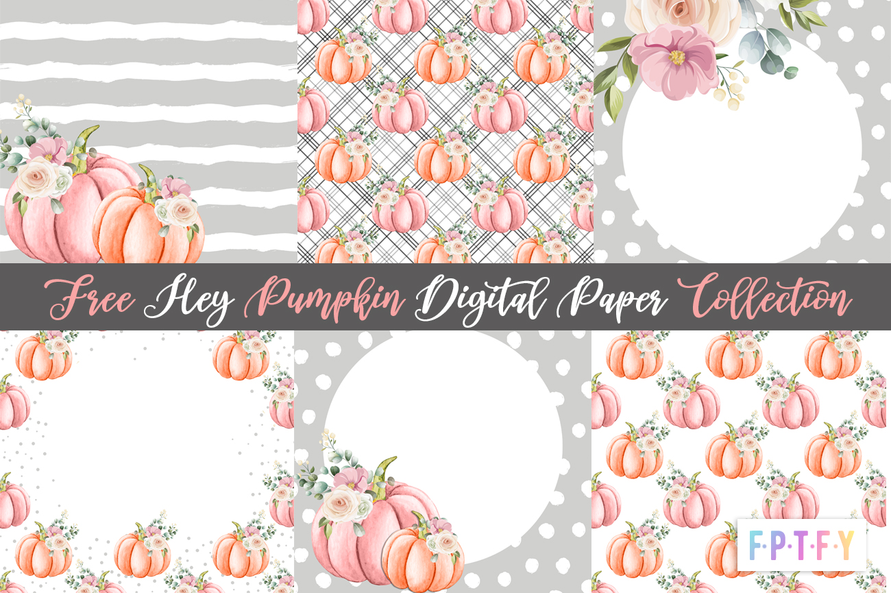 free pumpkin digital scrapbooking papers
