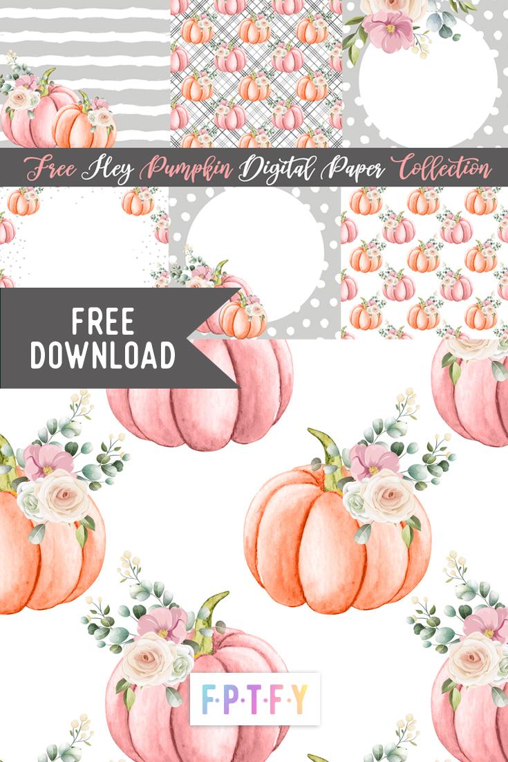 Hey Pumpkin Digital Paper - wedding and bridal inspired digital papers
