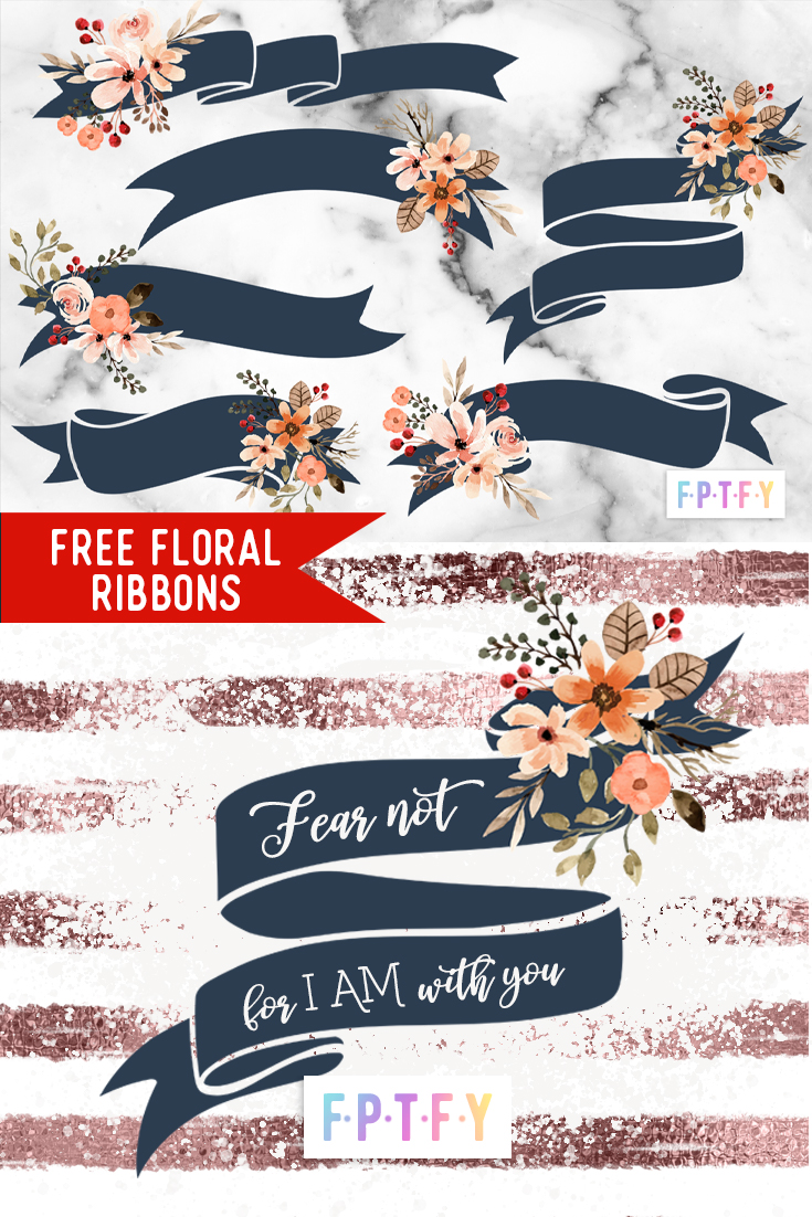free Fall Floral Ribbons download