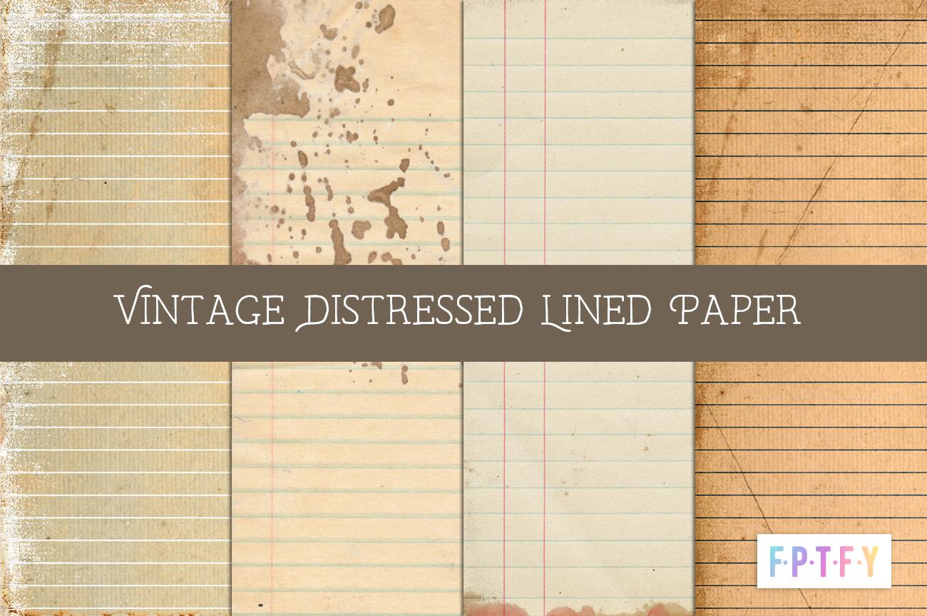 free vintage school lined paper