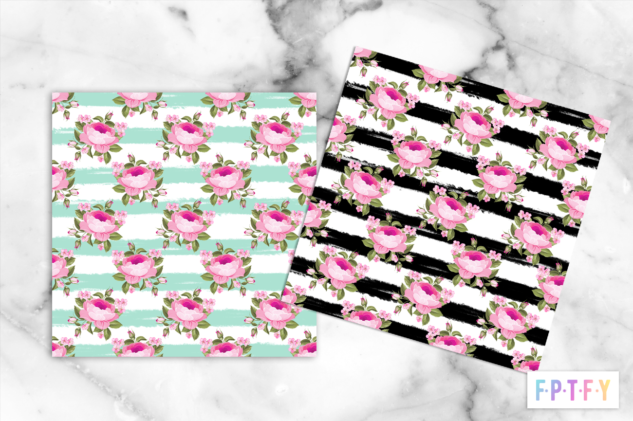 free shabby stripe digital Papers