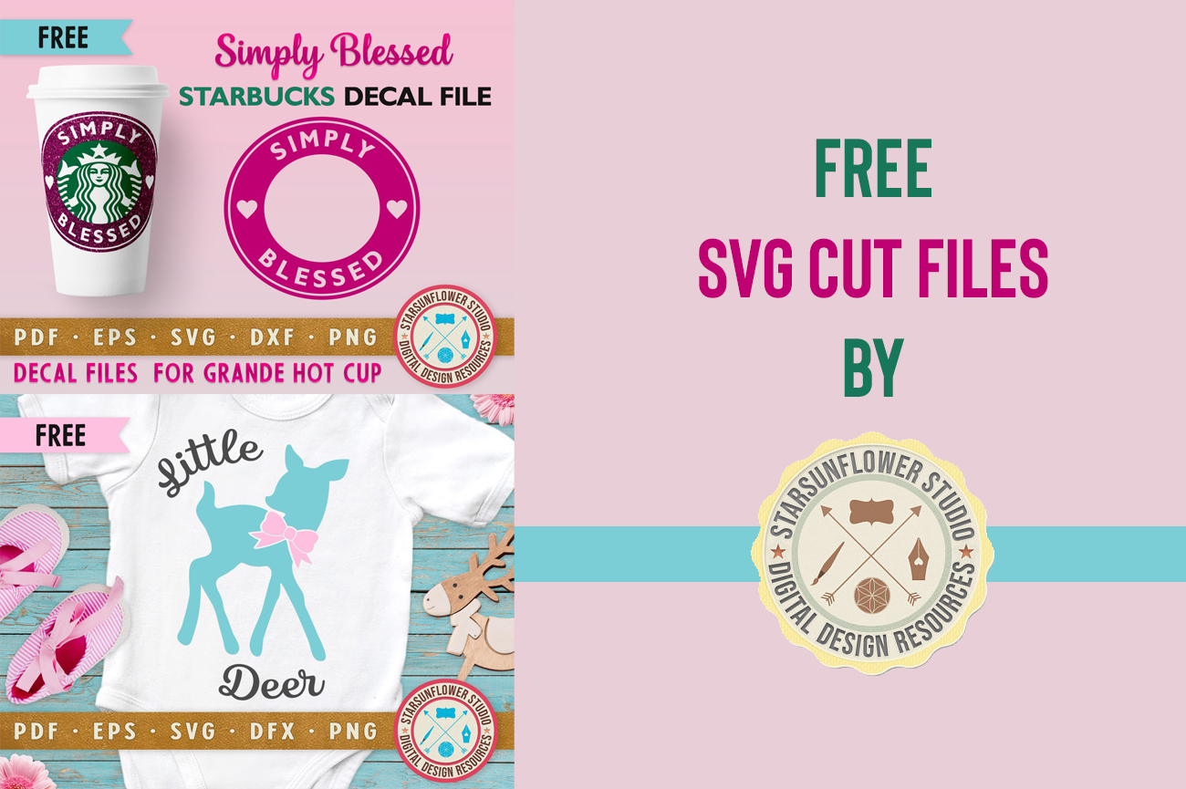 free starbucks cold and hot cup decal svg cut file