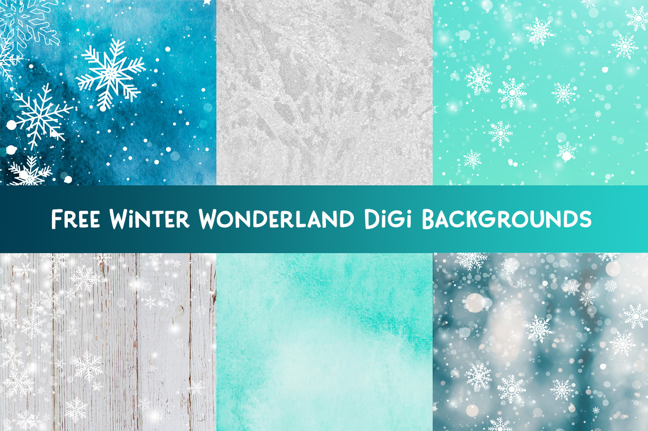 Free winter wonderland digital Backgrounds