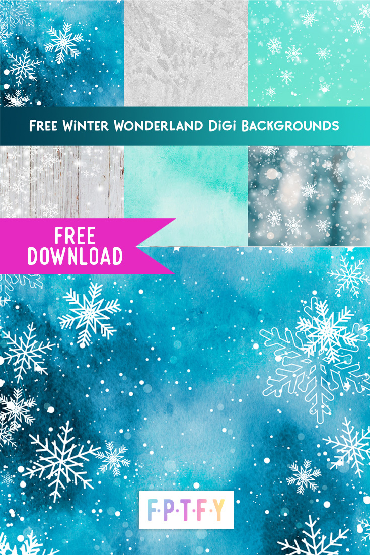 Free winter digital Backgrounds