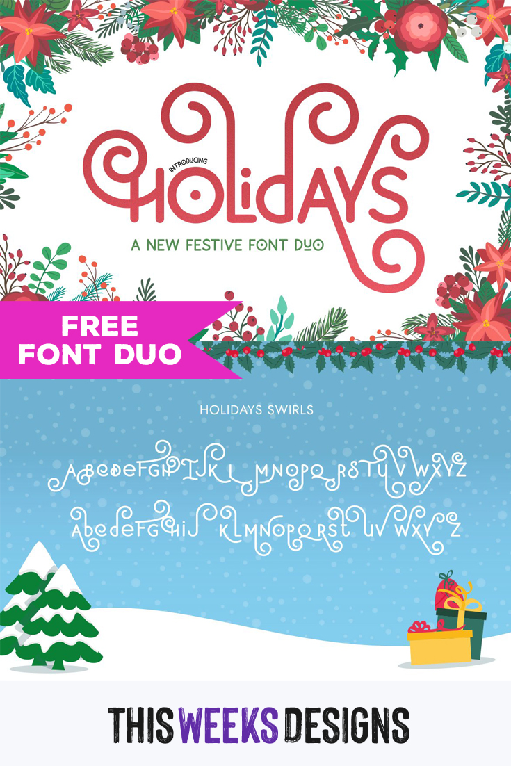 Free Holidays Font Duo