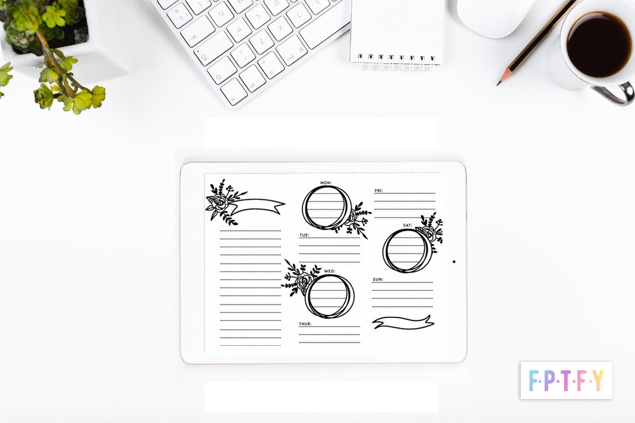 free doodle weekly planner