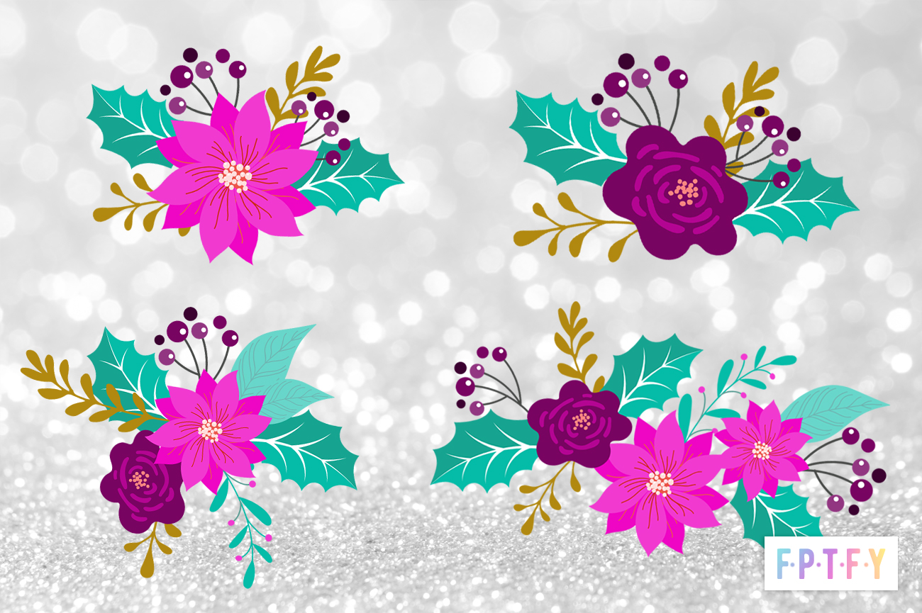 Holiday Flower Graphics