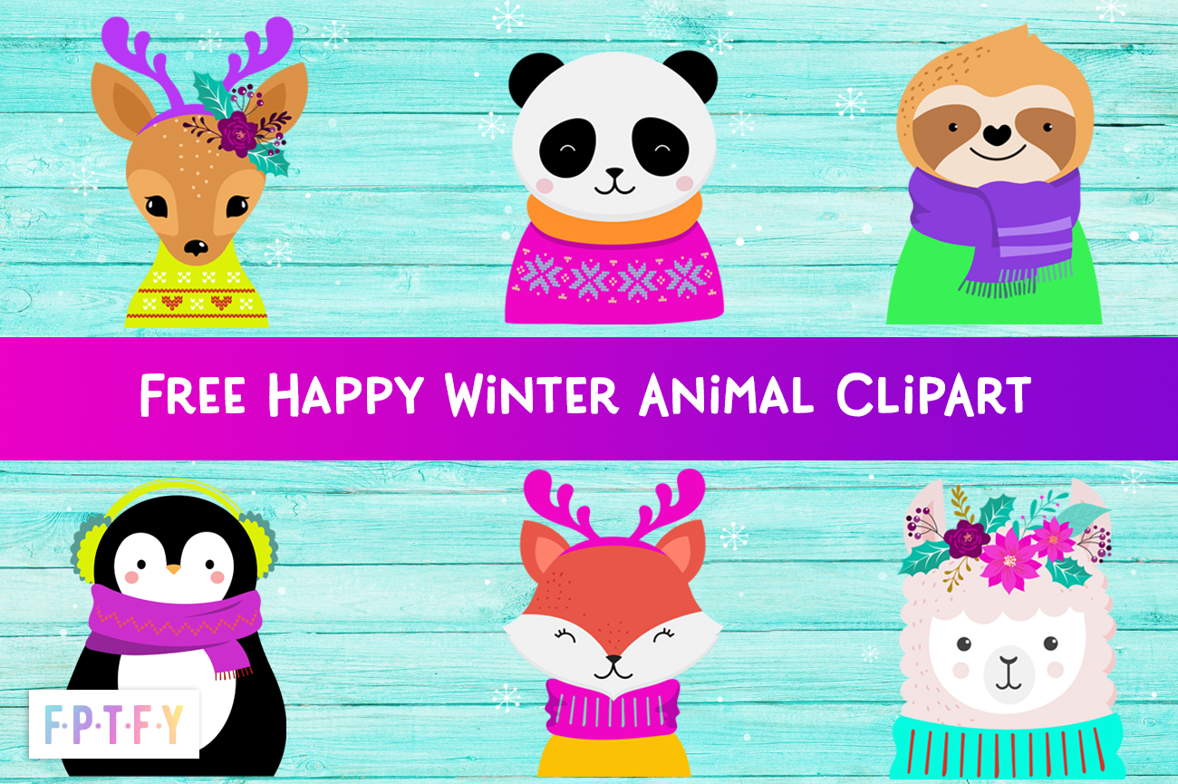 Free Happy Winter Animals Graphics