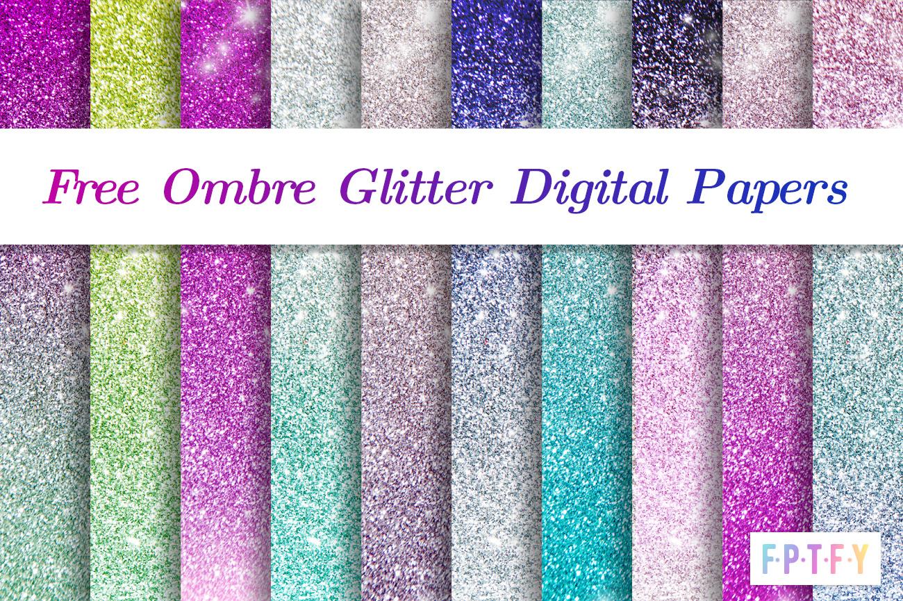 Free Ombre Glitter Digital Scrapbooking Paper