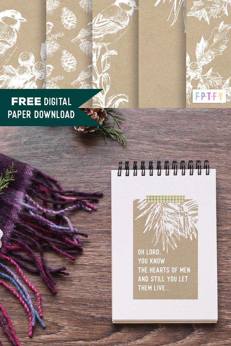 Free Winter Kraft Papers