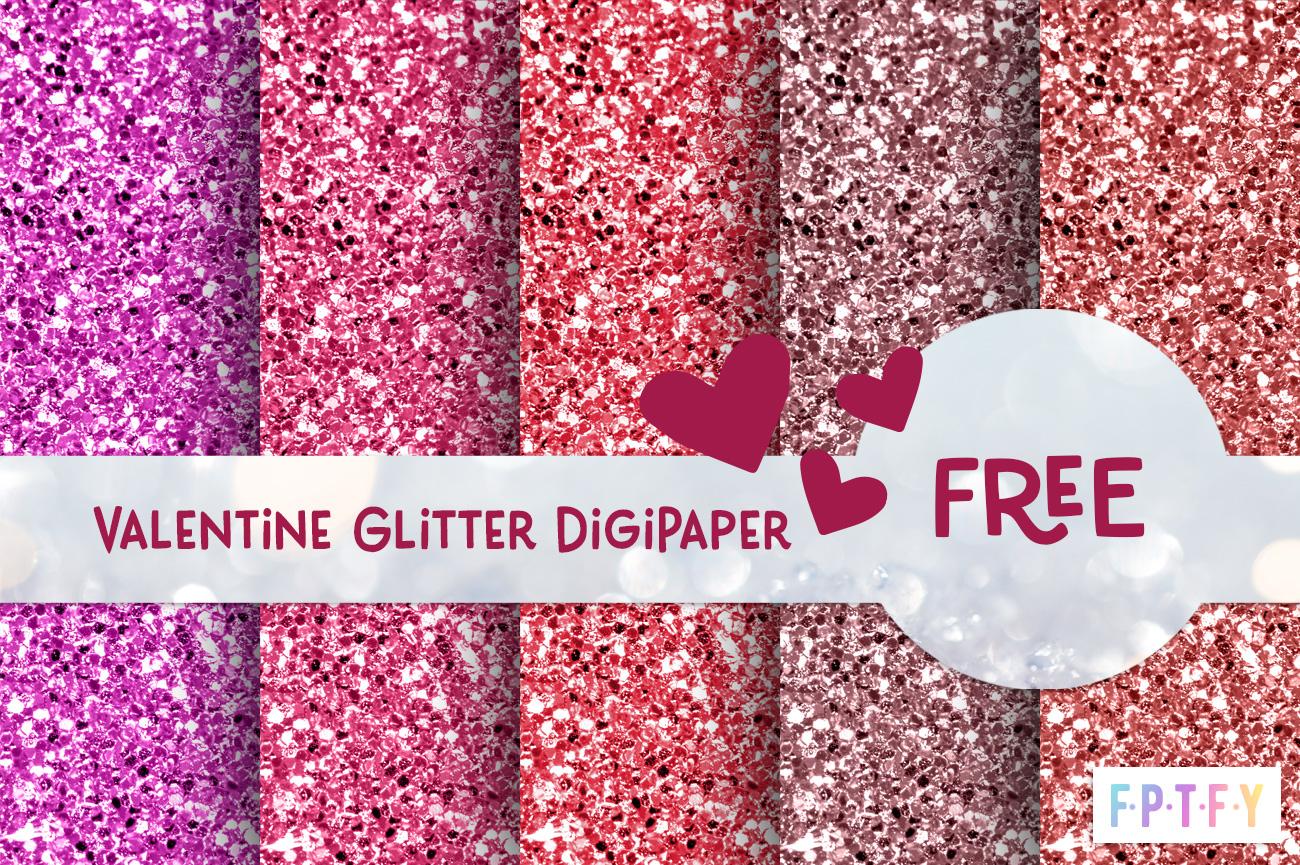 Free Valentine Glitter Digital paper