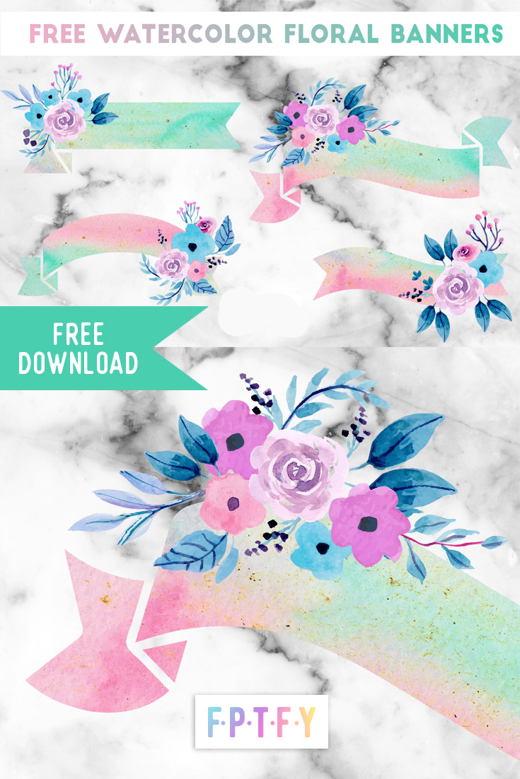 Free Watercolor Floral Banners