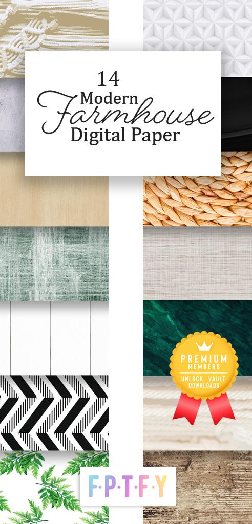 14 Modern Farmhouse Scrapbook Paper Images