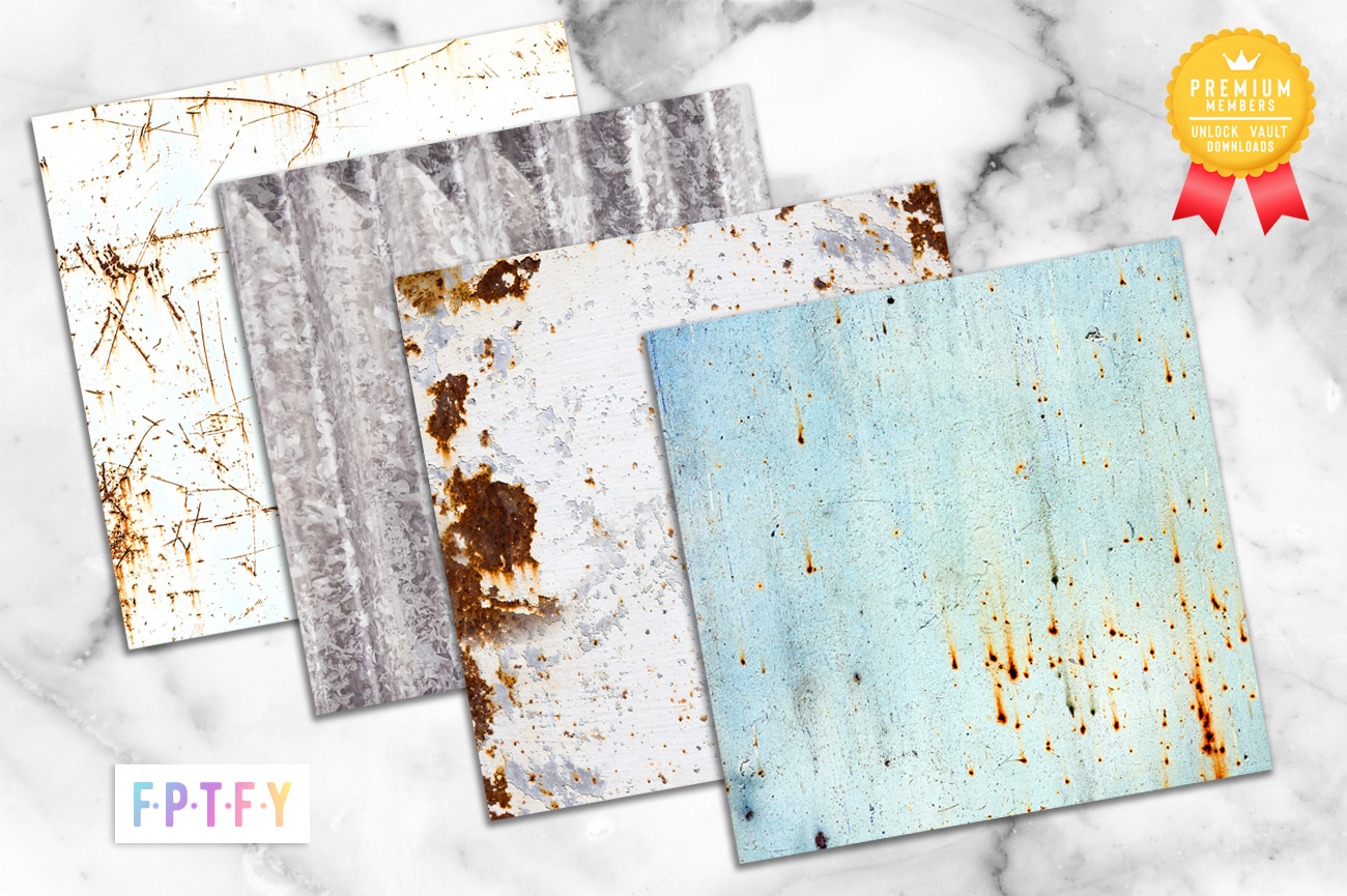 Farmhouse Distressed Metal Digital Papers and Backgrounds