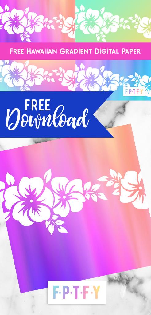 Free Hawaiian Gradient Digital Scrapbooking paper