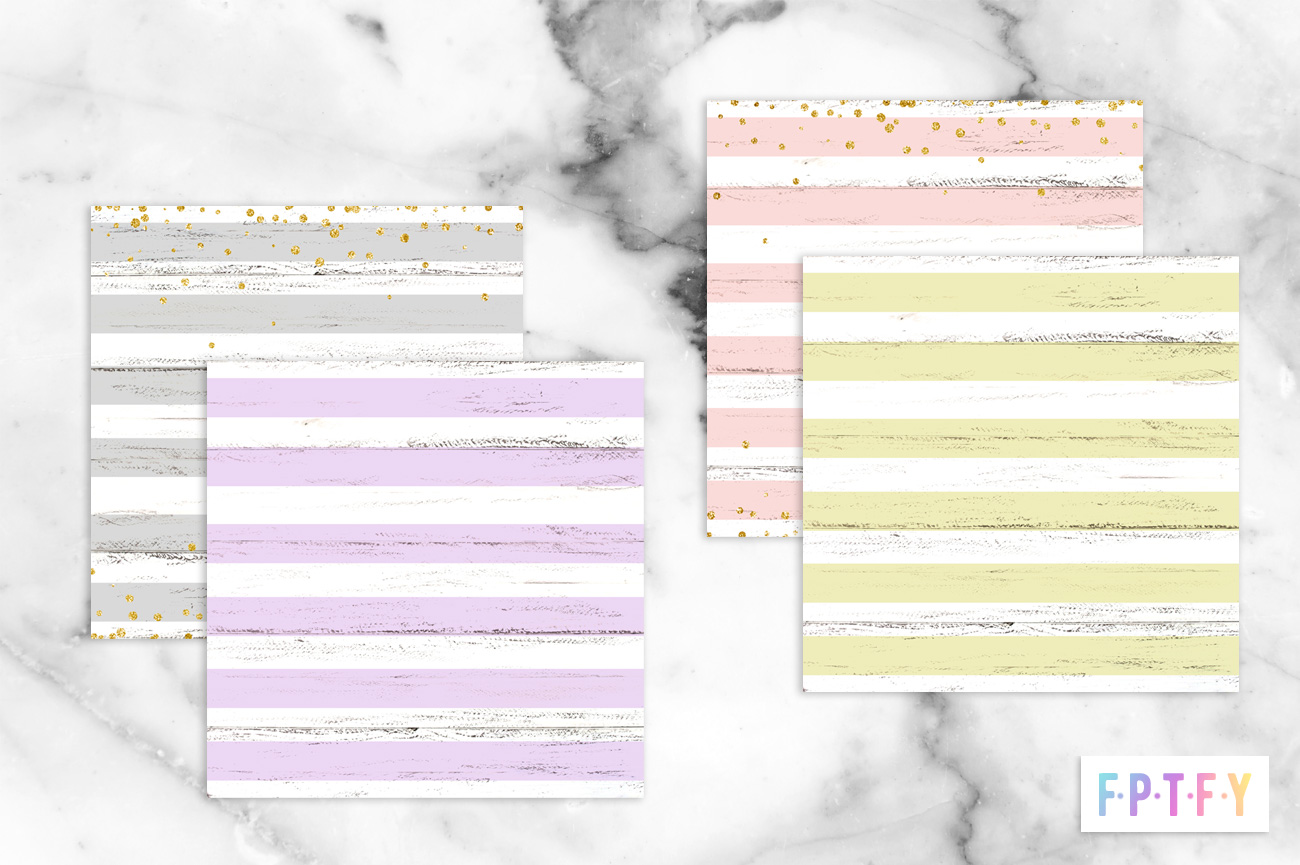 Free Pastel Painted Wood Stripe Confetti DigiPaper