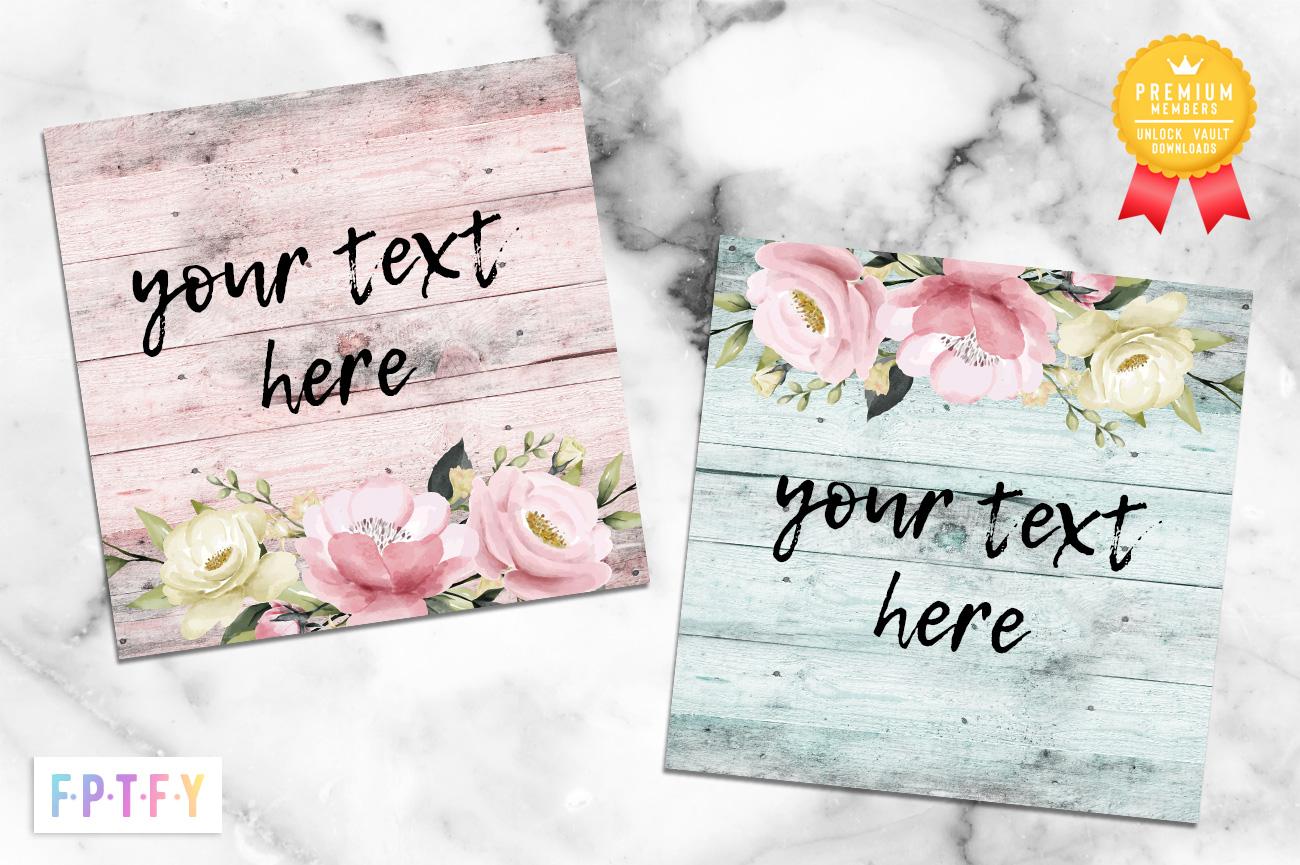 Spring Floral Wooden Digital Papers