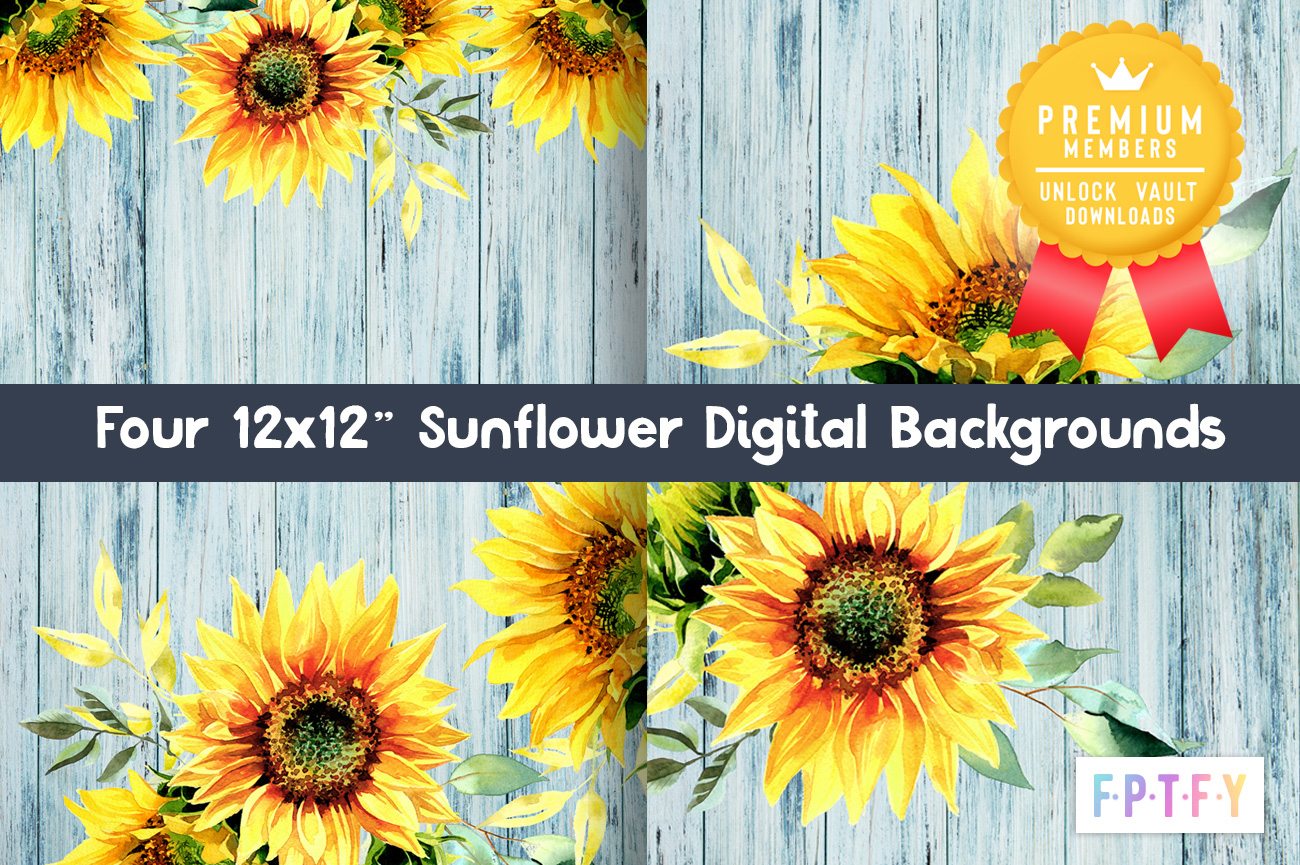 sunflower distressed wood digital paper collection
