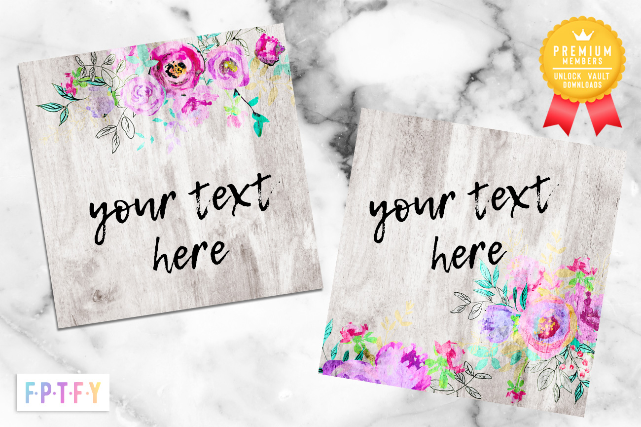 Boho floral digital Papers