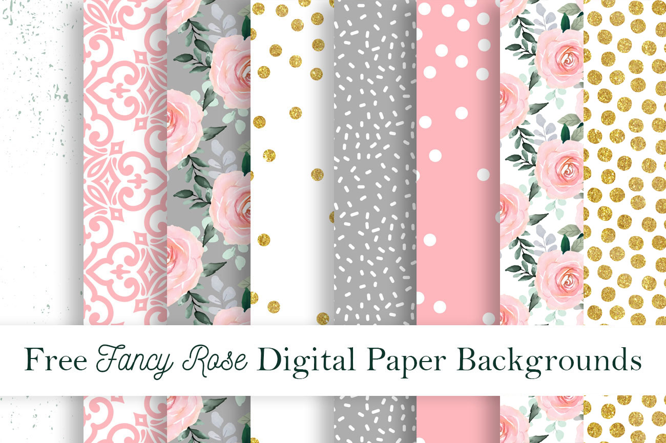 Free Fancy Rose Digital Paper