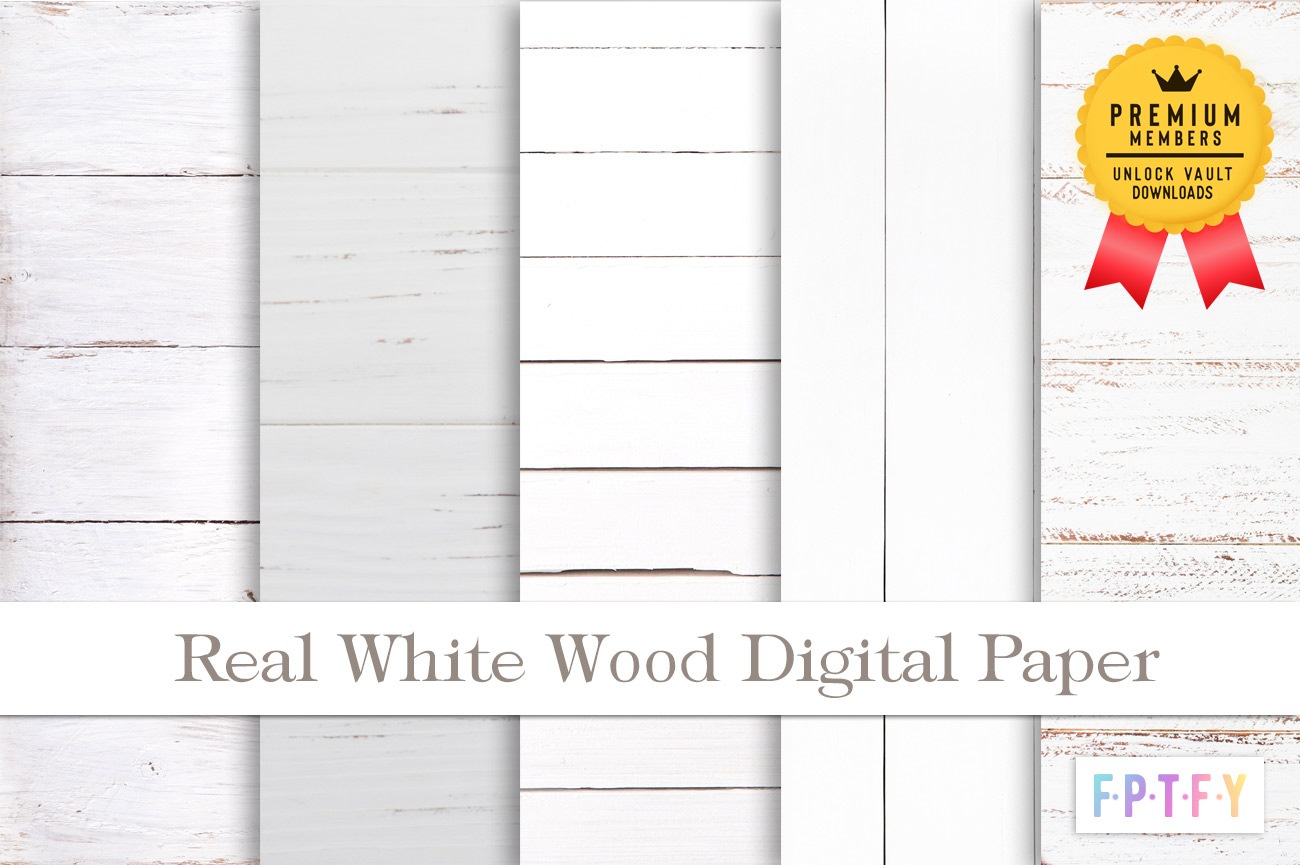 Real White wood digital Paper